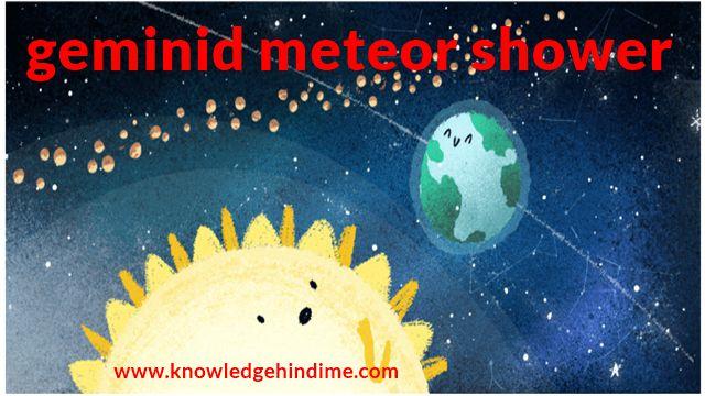 geminid meteor shower in hindi