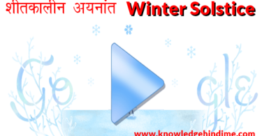शीतकालीन अयनांत Winter Solstice